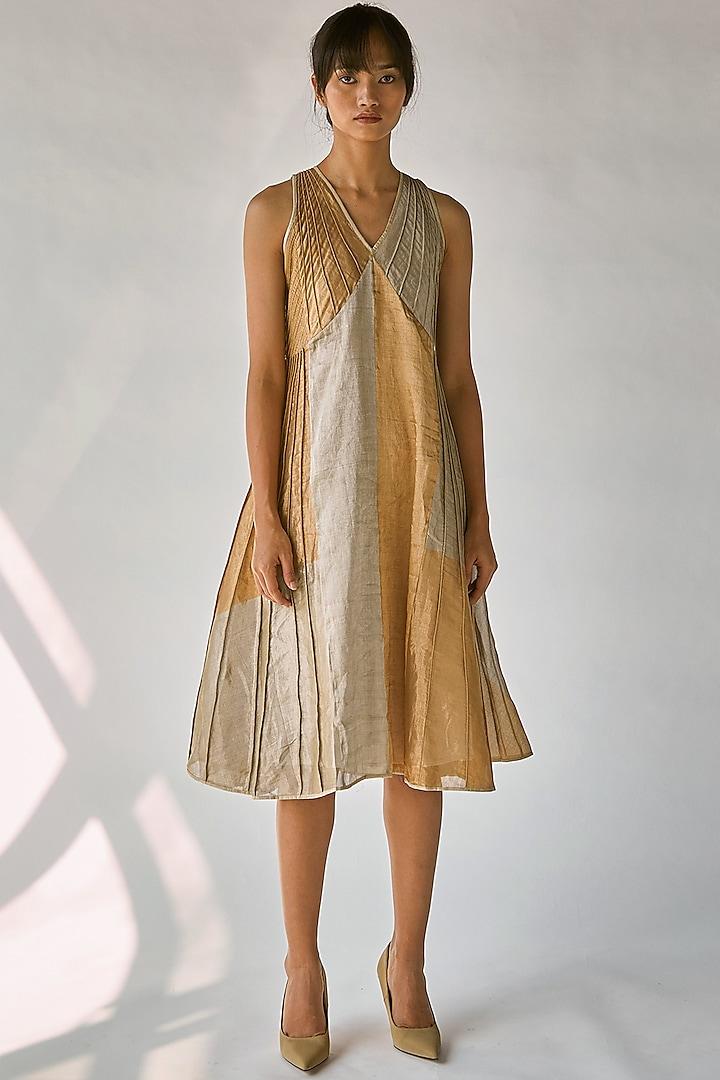 Dull Golden & Silver Dress by Ek Katha