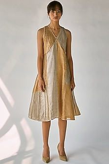 Dull Golden & Silver Dress by Ek Katha-EK KATHA