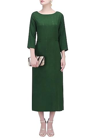 Moss Green Tunic Dress by Ekadi