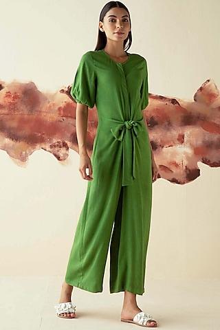 Green Wide Legged Jumpsuit by Kanelle