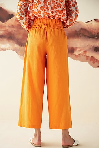 Orange Straight Trousers by Kanelle