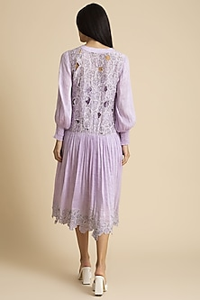 Orchid Dress With Cutwork Detailing by Kanelle