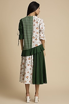 Seaweed Multipanel Printed Dress by Kanelle