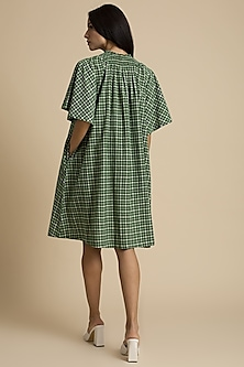 Seaweed Checkered Dress With Belt by Kanelle