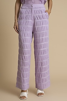 Orchid Crushed Cotton Trousers by Kanelle