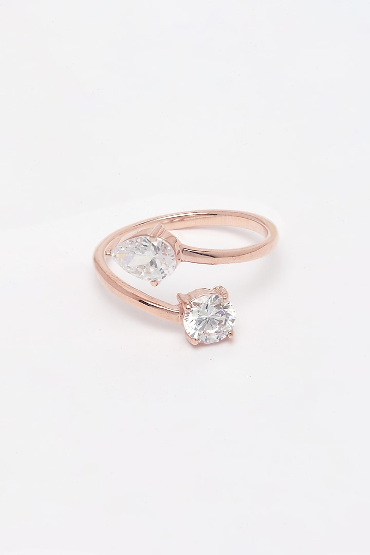 Rose Gold Finish Adjustable Drop Earrings by EMBLAZE JEWELLERY