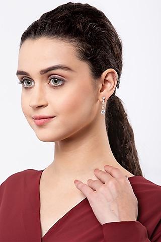 Rose Gold Finish Earrings In Sterling Silver by EMBLAZE JEWELLERY