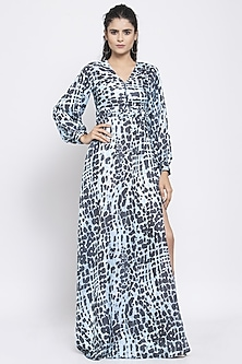 Multi Colored Printed Maxi Dress by Emblaze