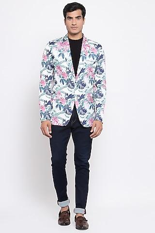Multi Colored Printed Blazer by Emblaze