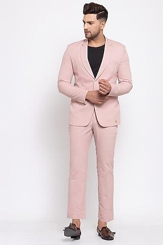Baby Pink Blazer Set by Emblaze