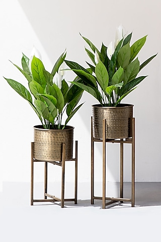 Copper Embossed Motive Hashtag Planter (Set of 2) by The Decor Remedy