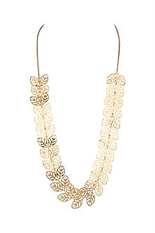 Gold Plated Basil Leaf Necklace by House of Esa