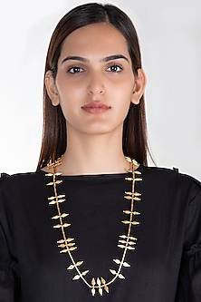 Gold Plated Jasmine Bud Long Necklace by House of Esa