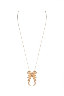 Gold Plated Pankh Pendant Necklace by House of Esa