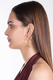 Gold Plated Totanama Earrings by House of Esa