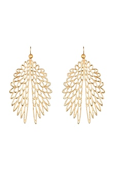 Gold Plated Eagle Wings Earrings by House of Esa
