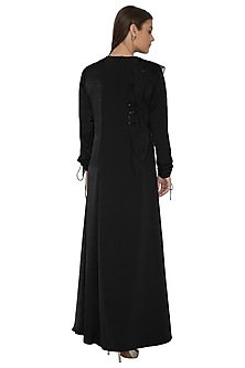 Black Embellished Maxi Dress by Eshaani Jayaswal