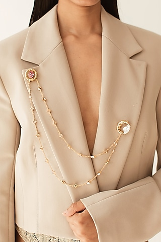 Rose Gold Finish Collar Necklace by ESME