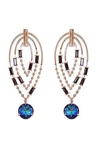 Rose Gold Swarovski Crystal Earrings by ESME