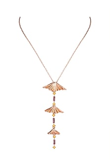 Rose Gold Finish Pendant Necklace by ESME