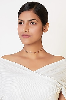 Rose Gold Finish Choker Necklace by ESME
