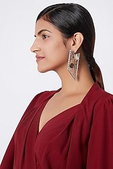 Black Rhodium Finish Dangler Earrings by ESME