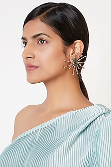 Rose Gold Finish Mismatch Style Earrings by ESME
