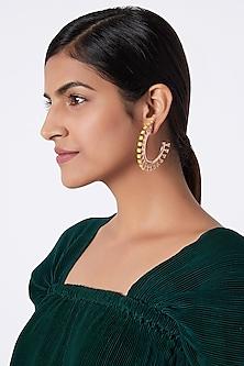 Rose Gold Finish Swarovski Hoop Earrings by ESME