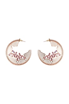 Rose Gold Finish Soft Pink Swarovski Earrings by ESME