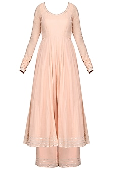 Baby Pink Anarkali with Pants by Esha Koul