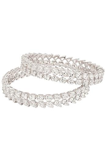 Silver Swarovski Bracelet by Essense