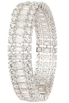 Silver Swarovski Crystals Bracelet by Essense