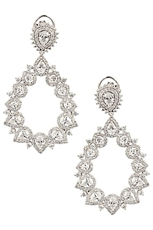 Silver Swarovski Earrings by Essense