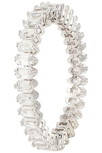 Silver Swarovski Studded Bracelet by Essense