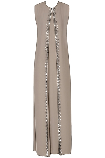 Clay Rose Pink Embroidered Maxi Dress by Esse