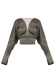 Grey Satin Blouse by Esse