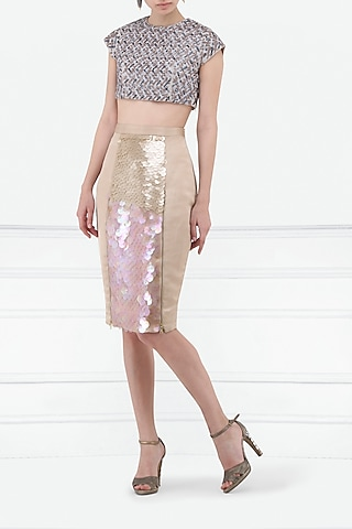 Blush Pink Pencil Skirt by Esse