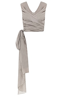 Sand Beige Wrap Around Top by Esse