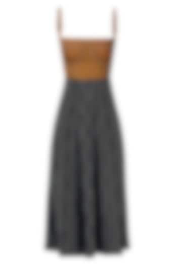 Burnt Orange and Black Dress by Esse