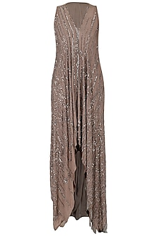 Dusty Pink Embroidered Asymmetrical Dress by Esse