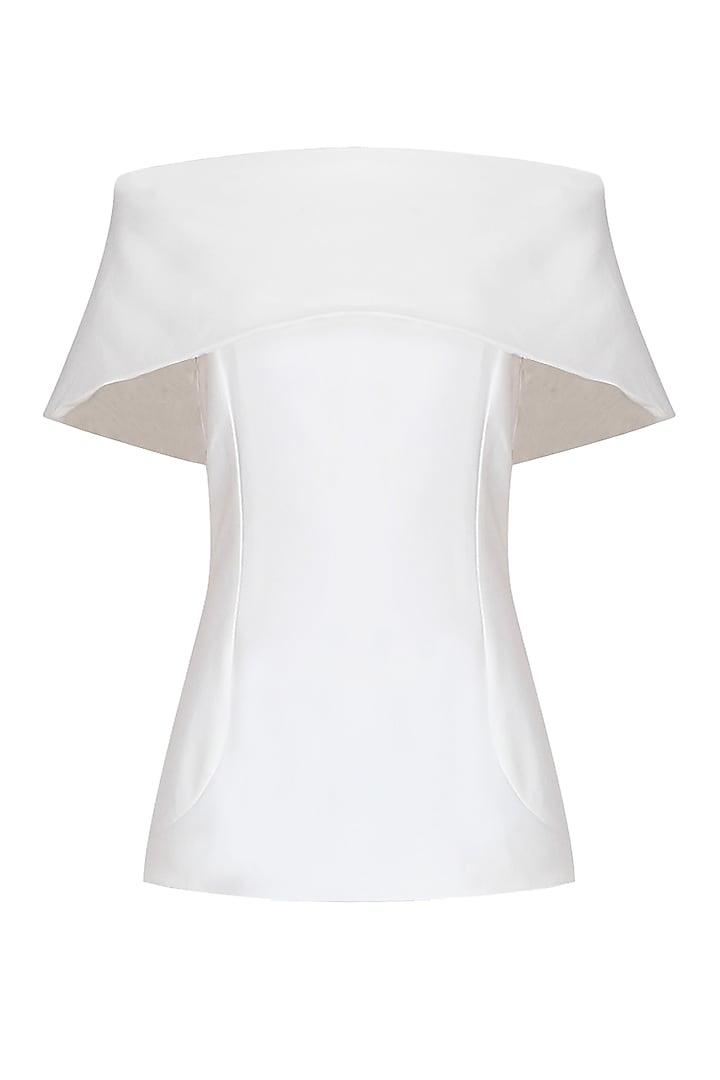 White Bandeau Off Shoulder Top by Esse Vie