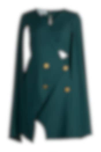 Teal Asymmetric Trench Dress by Etre