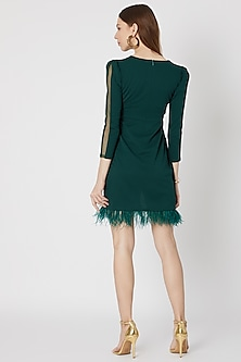 Emerald Green Trench Dress by Etre