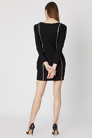Black Embellished Mini Dress by Etre