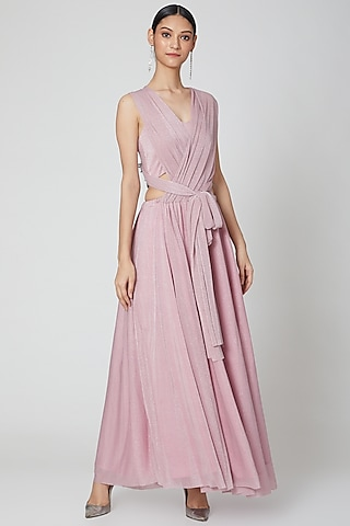 Blush Pink Versatile Drape Dress by Etre
