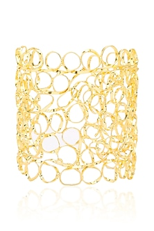 Gold finish Mesh Cuff by Eurumme Jewellery