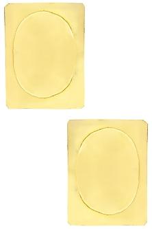 Gold finish Tribal Slate Earrings by Eurumme Jewellery