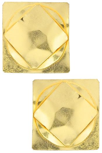 Gold finish Ungeometric Studs by Eurumme Jewellery