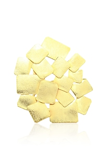 Gold finish Snowflake Ring by Eurumme Jewellery