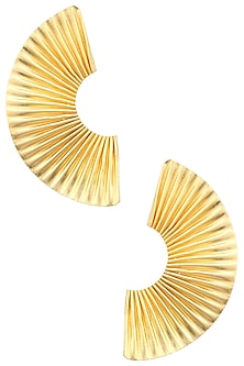 Gold finish Orient Half Studs by Eurumme Jewellery